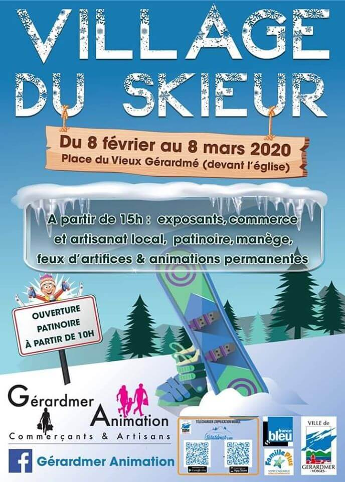 affiche village des skieurs gérardmer
