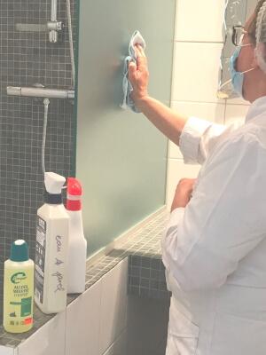 nettoyage désinfection salle de bains villa eugène